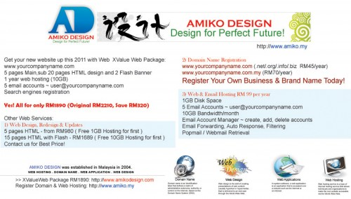 AMIKO DESIGN WEB PROMOTION 2011 MAY