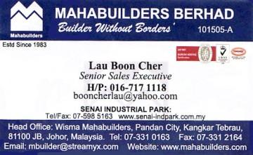 Mahabuilders Berhad
