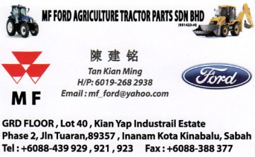 MF FORD AGRICULTURE TRACTOR PARTS SDN BHD