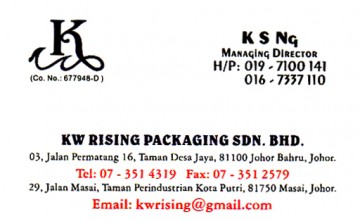 KW RISING PACKAGING SDN BHD